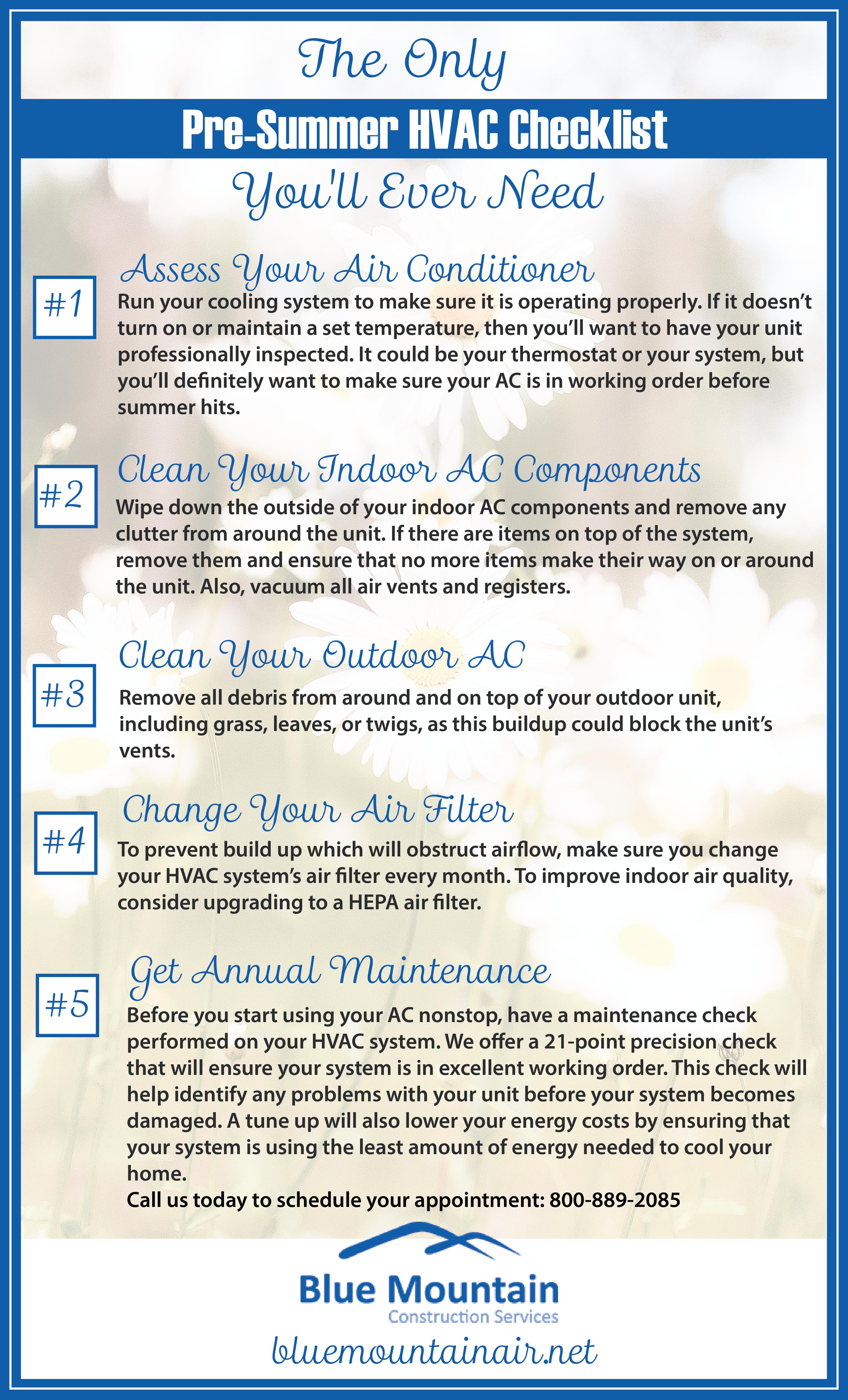 Pre-Summer HVAC Checklist